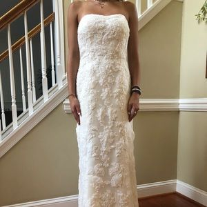 Demetrios Wedding Ivory Mermaid Dress, Size 6